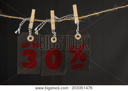 30 Percent Discount Label