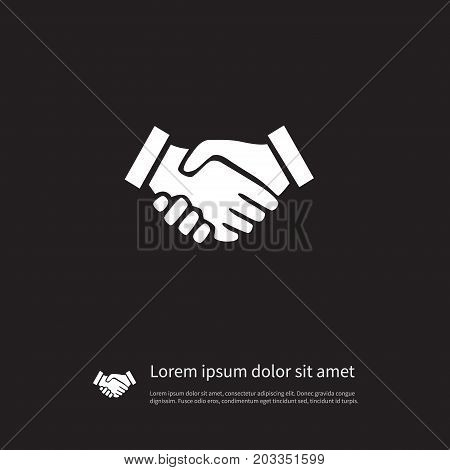 Partnership Vector Element Can Be Used For Agreement, Partnership, Handshake Design Concept.  Isolated Agreement Icon.