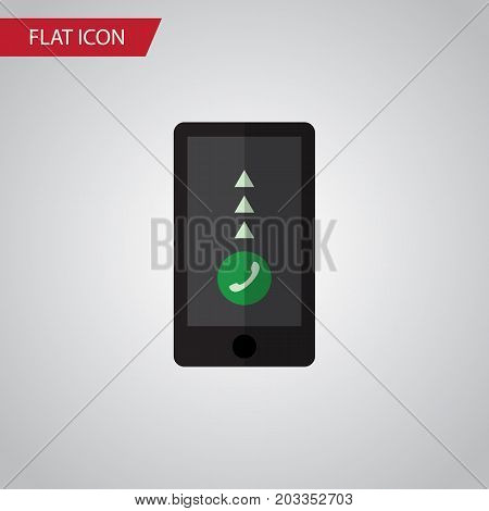 Cellphone Vector Element Can Be Used For Smartphone, Telephone, Cellphone Design Concept.  Isolated Smartphone Flat Icon.