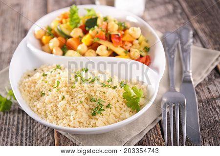 semolina with legumes