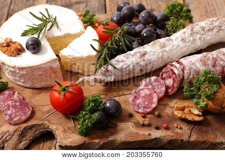 camember and salami
