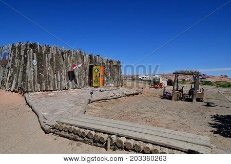 Arizona USA - july 8 2016 : the village of Kayenta near Monument Valley