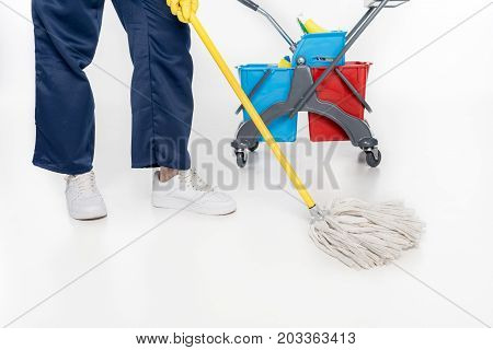 Cleaner Mopping Floor