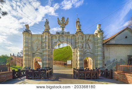 Carolina gate Alba Iulia fortress Transylvania Romania