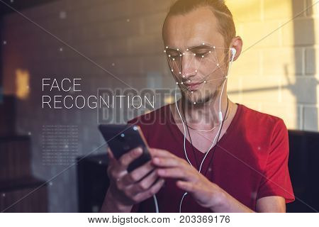 Concept Of A New Technology Of Face Recognition On Polygonal Grid Is Constructed By Points Of It Sec