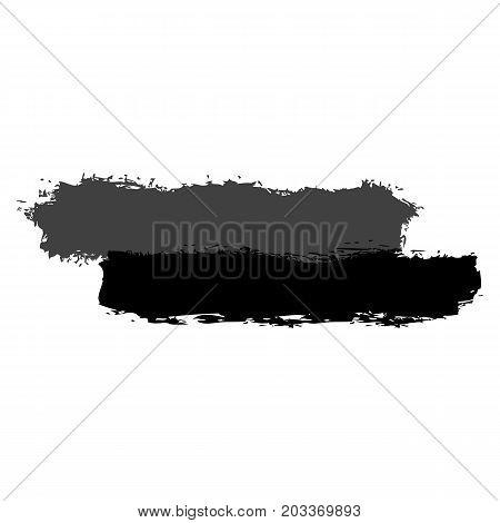 Two Gray Brushstroke Paint