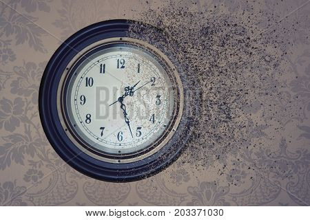 Watch Destroyed By Time In The Sand. Concept Time Is Running Out