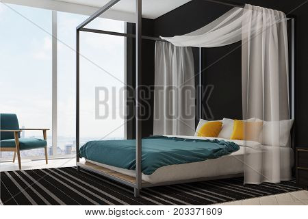 Blue And Yellow Bedding Bedroom Interior