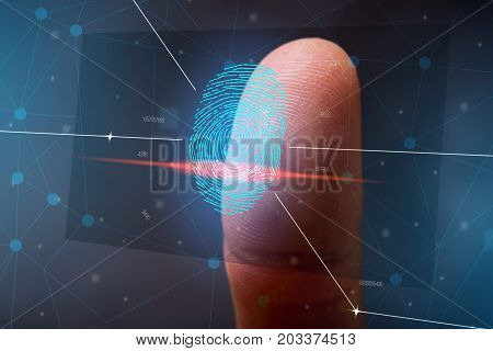 The Scanning Of The Fingerprint. High Technologies Of Information Protection And Biometric Identific