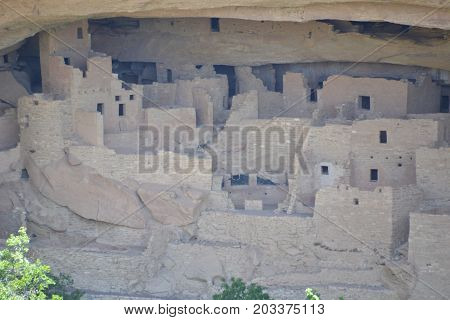 cliff dwellings at Mesa Verde national park in Colorado