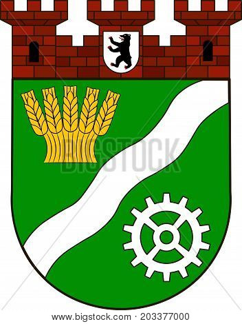 Coat of arms of Marzahn-Hellersdorf is the tenth borough of Berlin Germany. Vector illustration from the