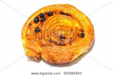 cakes and breads on a white background