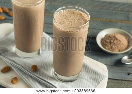 Healthy Homemade Chocolate Protein Shake