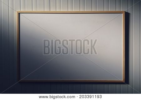 Blank whiteboard in the office white board as copy space for business or education message text or graphics