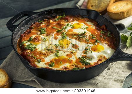 Homemade Saucy Shakshuka With Eggs