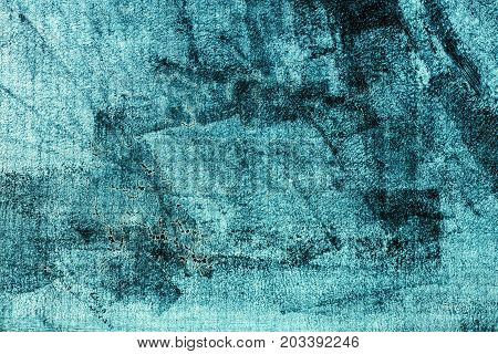 Grunge dirty blue background abstract pattern of painted glass texture