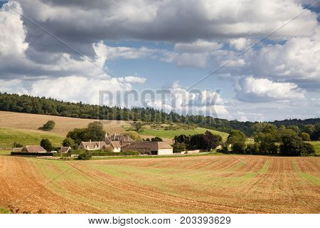 farm in Cotswolds - British countryside, UK