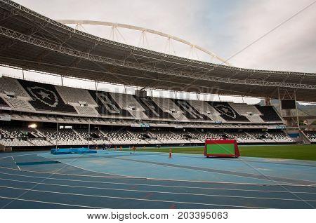 Rio de Janeiro, Brazil - August 23, 2017: Nilton Santos Stadium, also known as