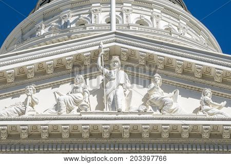 Sacramento Capitol Building in the state of California