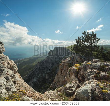Mountain Landscape, Ghost Valley, Grass, Rocks