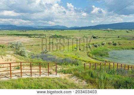 Crimean Plain, Lake, Hilly Horizon