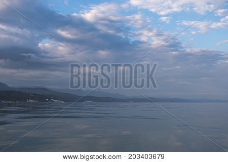 Mountain View From The Sea Coast