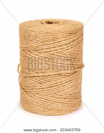 Spool Of Bale Twine Isolated On White Background