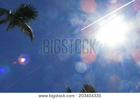 Imagem de um lindo dia de céu azul
