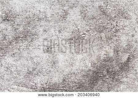 Rustic concrete texture. Grey asphalt road top view photo. Distressed and obsolete background texture. Natural concrete floor top view. Rustic asphalt road surface. Grungy grit backdrop. Shabby chic