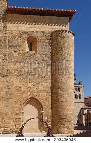 Church Of San Juan And The Background Church Of Santa Maria, Aranda De Duero, Burgos Province, Spain