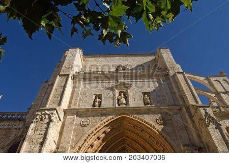 Portico Cathedral Of Palencia, Castilla Y Leon, Spain (los Reyes O San Juan