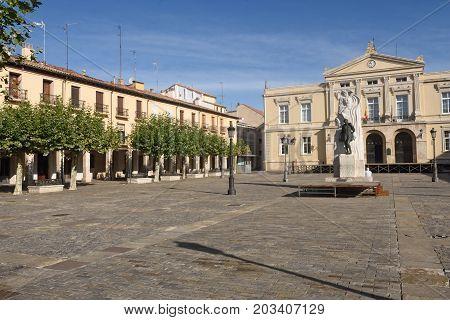 Main Square Of Palencia, Castilla Y Leon, Spain