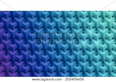 Vector illustration realistic background geometrical seamless pattern.