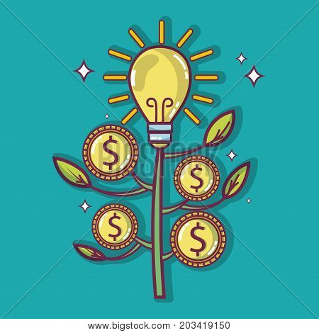 crowdfunding finance company and economy support vector illustration