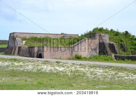 remnants of ft pickens  built in 1834 on santa rosa island, Pensacola Florida
