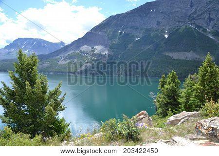 lake McDonald in Glacier National park in Montana's