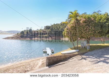 The Furnas Dam is a hydroelectric dam in the Minas Gerais state of Brazil.