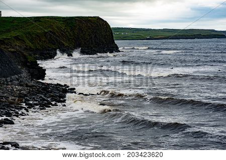View of Cliffs and Harbor in Dingle, County Kerry, Ireland