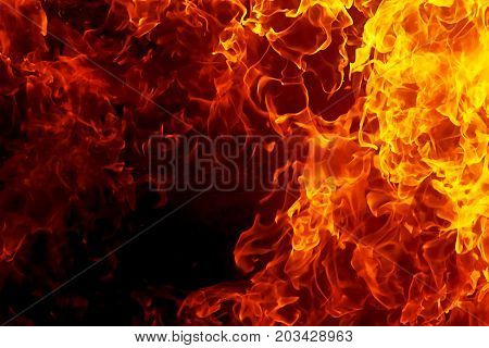 Fire flames background. Original flame and graphic effect
