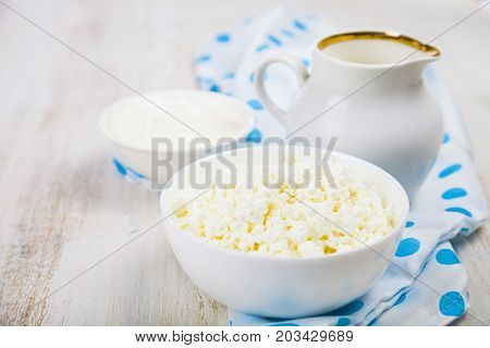 Cottage Cheese, Sour Cream And Milk