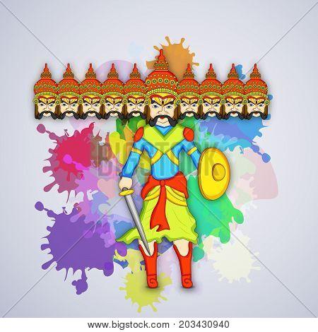 illustration of evil Ravan on the occasion of hindu festival Dussehra