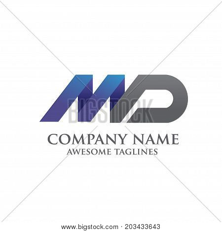 Letter MD logo vector illustration template, letter MD trend logo vector, creative Letter MD letter logo