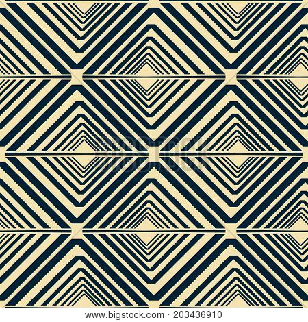 Seamless Pattern Of V Shaped Geometric Elements