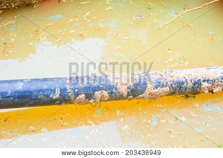 repair plumbing PVC pipe On the water with copy space add text