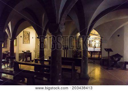 BOLOGNA, ITALY - JULY 23, 2017: Basilica of Santo Stefano (Seven Churches) Emilia Romagna