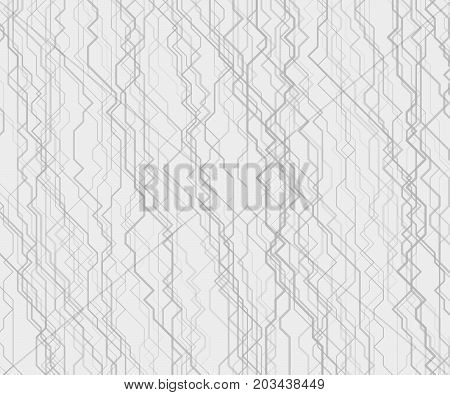 Modern monochrome vector linear background with streams of cybernetic pathways. Contemporary random geometric texture. Backdrop with array of irregular lines. Element of design.