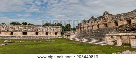 Quadrangulo De Las Monjas, Uxmal Archaeological Site, Yucatan, Mexico.