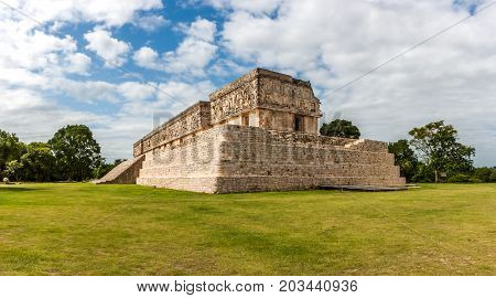The Governor Palace, Uxmal Archaeological Site, Yucatan, Mexico.