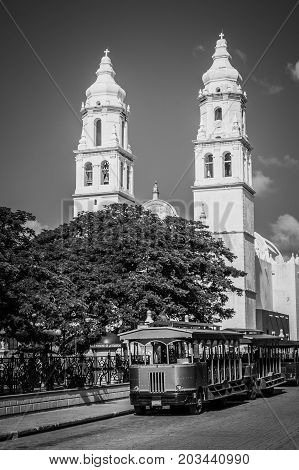 Campeche Cathedral, Mexico.