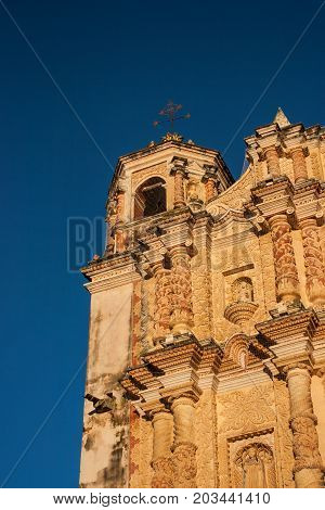 Carvings On The Face Of The Santo Domingo's Church In San Cristobal De Las Casas, Chiapas, Mexico.